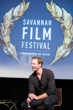 "Alexander Skarsgård in discussion after a screening of ""The Diary of a Teenage Girl"" at SCAD Museum of Art - IMAGE COURTESY OF SCAD."