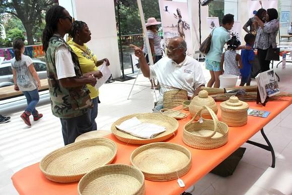 Gullah Geechee basket maker Greg Grant returns to demonstrate the ancestral craft of sweetgrass weaving. - PHOTOS COURTESY TELFAIR MUSEUMS