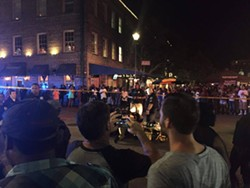 The scene at City Market about 1 a.m. - PHOTO BY TAYLOR MCMASTERS
