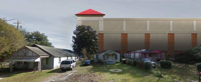 A Photoshopped rendering of the proposed new self-storage facility in the neighborhood near Whole Foods. - GRETCHEN HILMERS