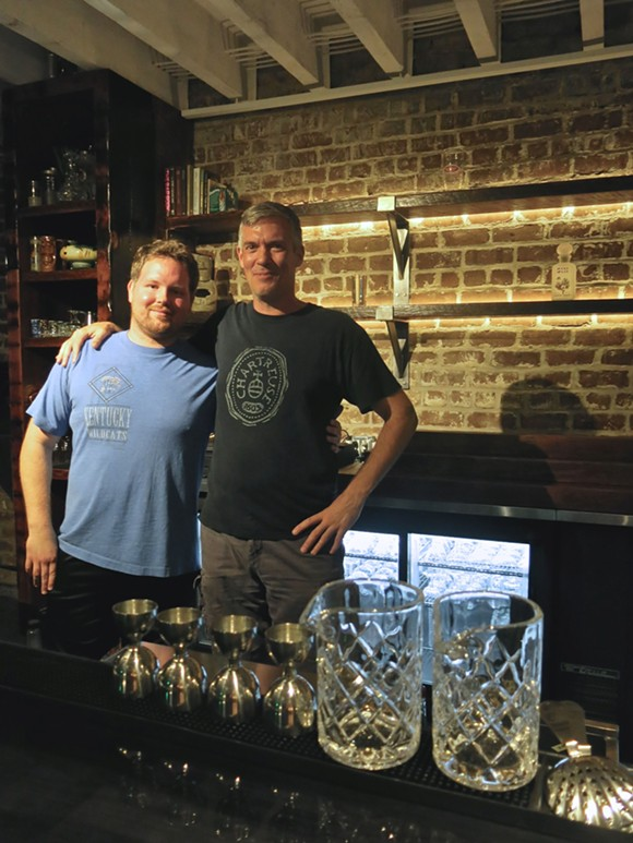 Scott Marshall, at right, is one of the partners behind Alley Cat Lounge, in West Broughton Lane between Barnard and Jefferson. - PHOTO BY MELISSA DELYNN