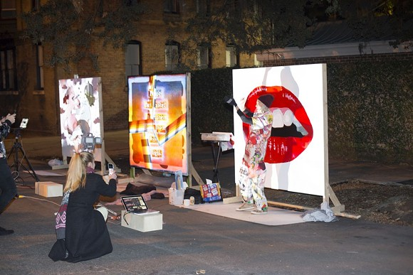 """The premiere of Will Penny's """"Intersection"""" included street art powered by looped feeds."""