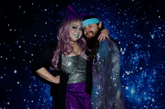 Anita Narcisse and Chris Underwood hit Rock & Roll Prom: Sci-Fi Edition in out-of-this-world custom creations. - PHOTO BY PETERSON WORRELL