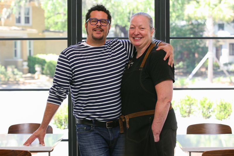 Jason Restivo and Best Chef winner Lauren Teague - PHOTO BY JON WAITS