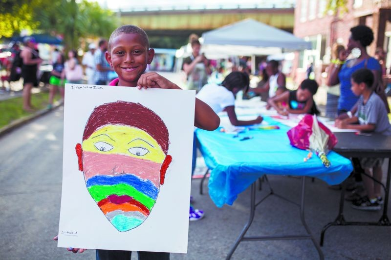 The community block parties are an opportunity to celebrate, make art and continue conversations about community issues. - PHOTO BY JOHN ALEXANDER