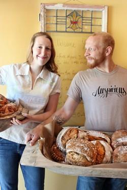 Owners, Kaytlin Bryant (left) and fiancé Mark Ekstrom, handcraft hundreds of baked goods each week.