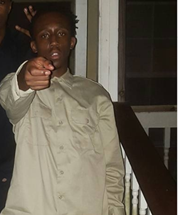 Tanaiveon Johnson, 17, is wanted in association with the death of Arraffi Williams, 18