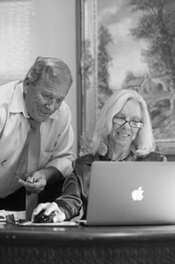 Mel and Joan Gordon at work.