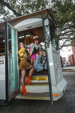 L-R: Toyota Mitsubishi, Influenza Mueller and Burt Sienna of the House of Gunt. - PHOTO BY GEOFF L. JOHNSON