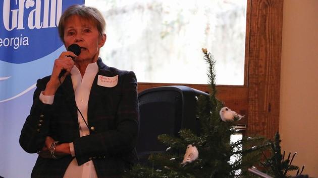 Laura Devendorf speaks on behalf of conservation of Springfield Plantation. - PHOTO BY SCOTT BELFORD