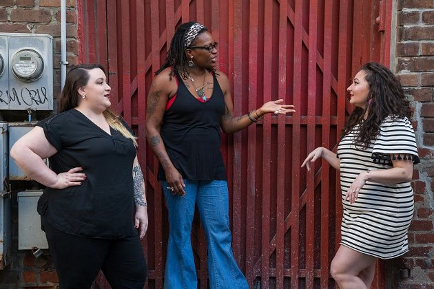 The Bay Street Theatre cast is ready to continue the discussion. - JON WAITS | @JWAITSPHOTO
