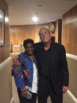 Tony Arata with Karla Redding backstage at the Ryman. - PHOTO COURTESY OF TONY ARATA
