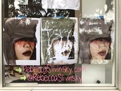 Rebecca Slivinsky's work in the window.