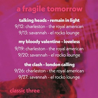 Classic Three: A Fragile Tomorrow to bring three iconic records to life at El-Rocko