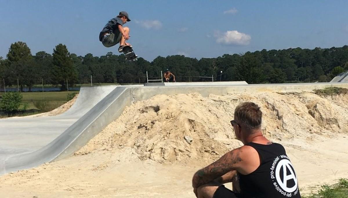 Savannah Skatepark shredding at Lake Mayer