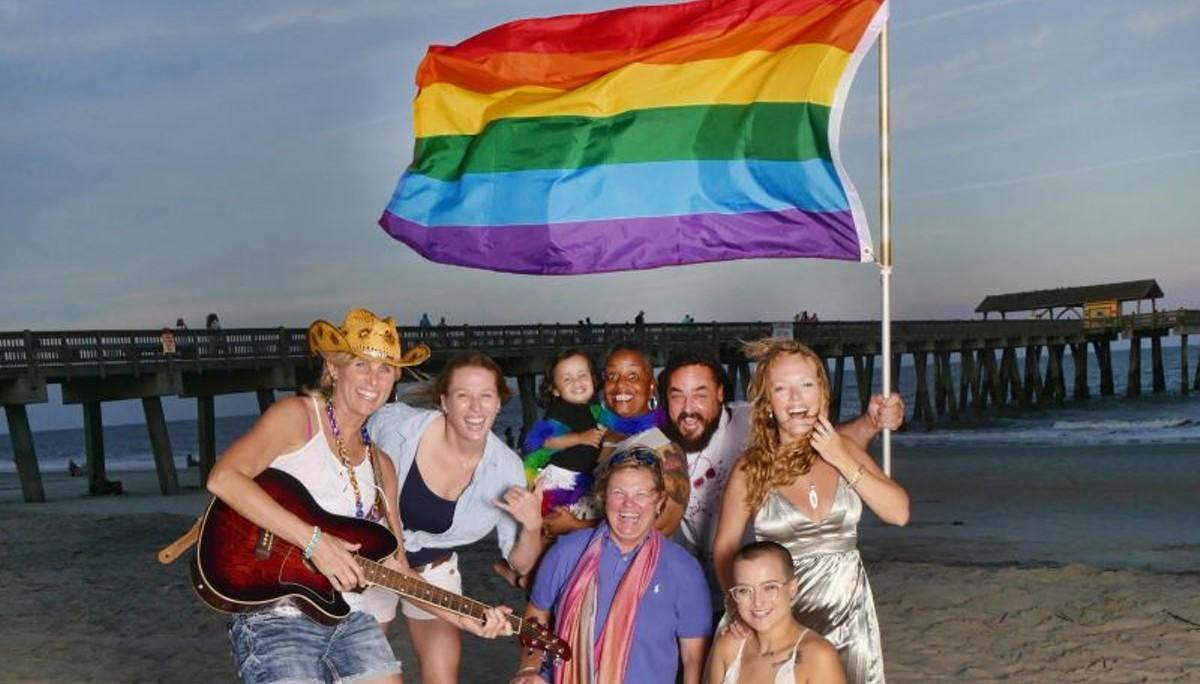 Tybee Equality Fest flies the rainbow flag
