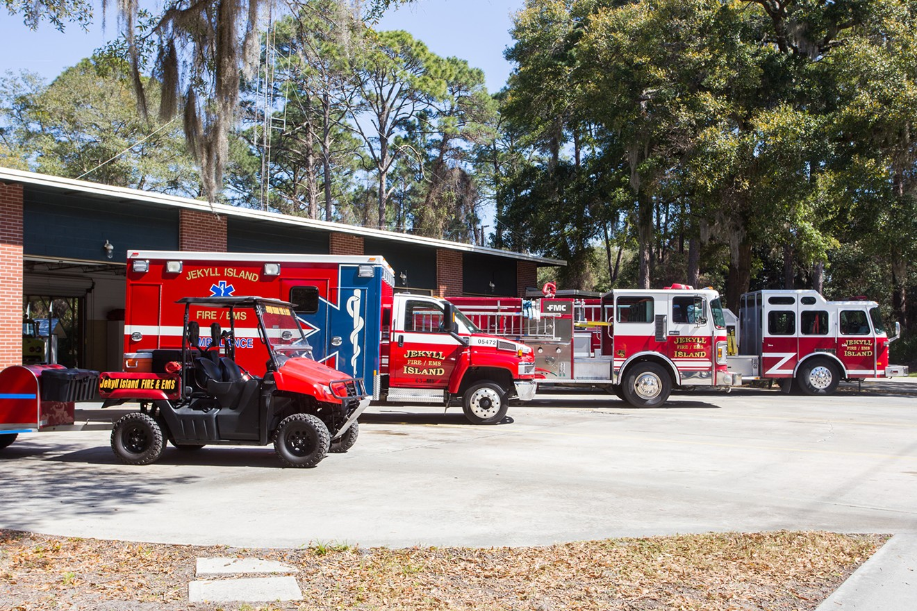 ids can sit in the driver's seat and explore several emergency vehicles from Jekyll Island Fire/EMS and Georgia State Patrol.