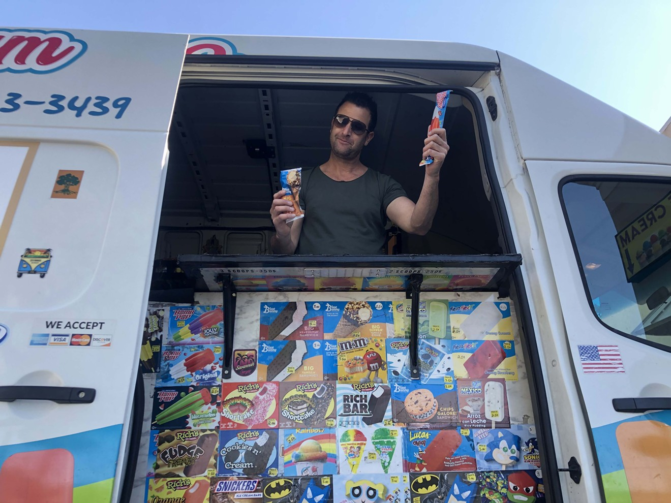 Dotan Organ sells ice cream out of his mobile Toti Ice Cream truck.
