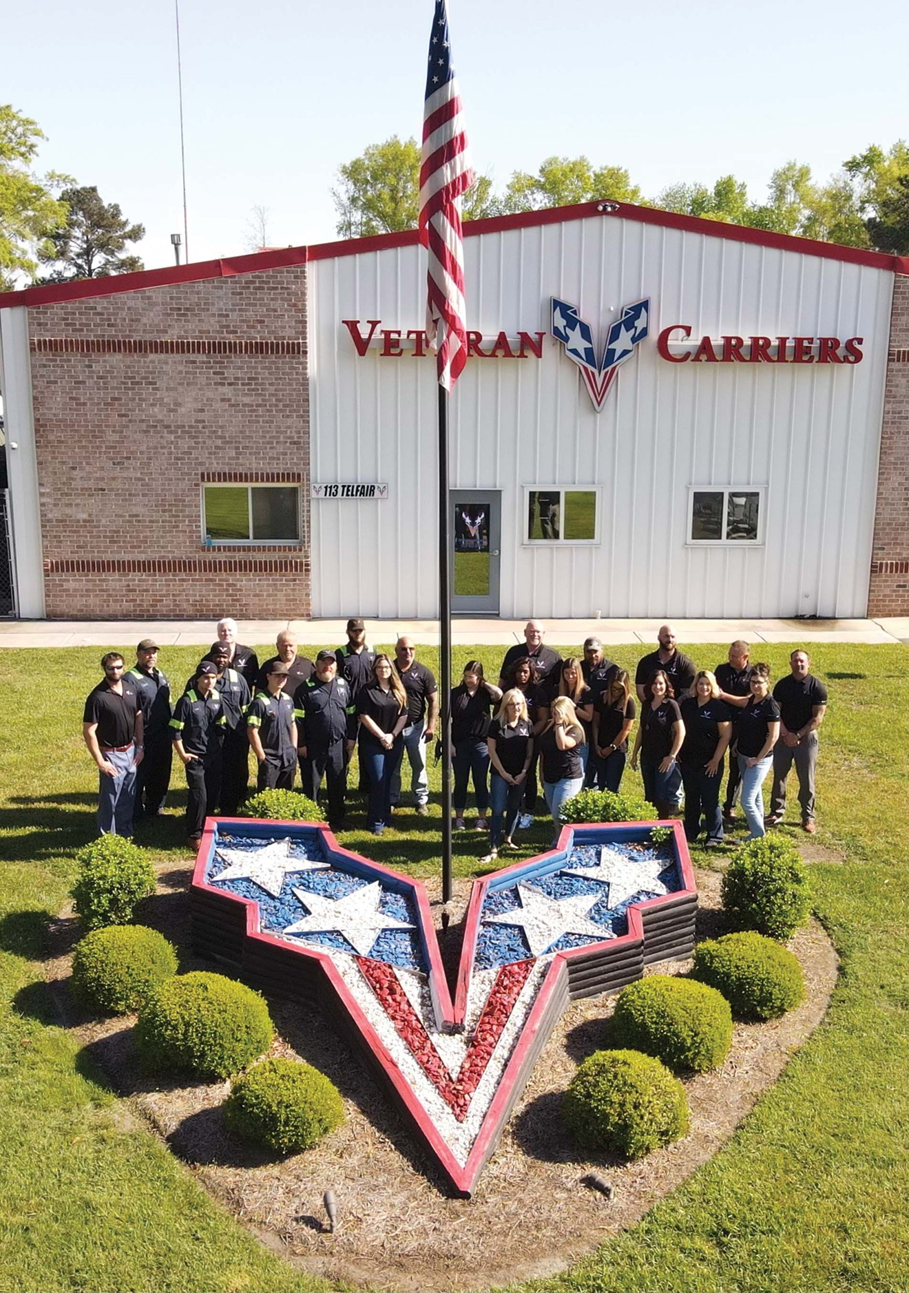 Members of Veteran Carriers work as essential employees through the pandemic in Savannah. The organization has partnered with Enmarket to salute truck drivers who kept the nation fed and supplied.