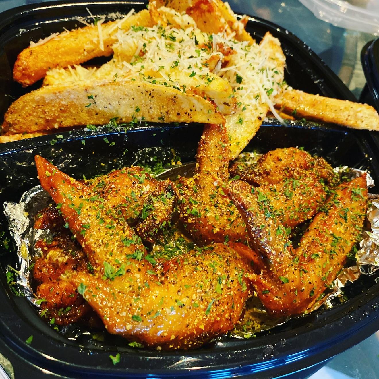 Wing-N-It serves a fan favorite, honey lemon-pepper wings along with hand-cut fries.