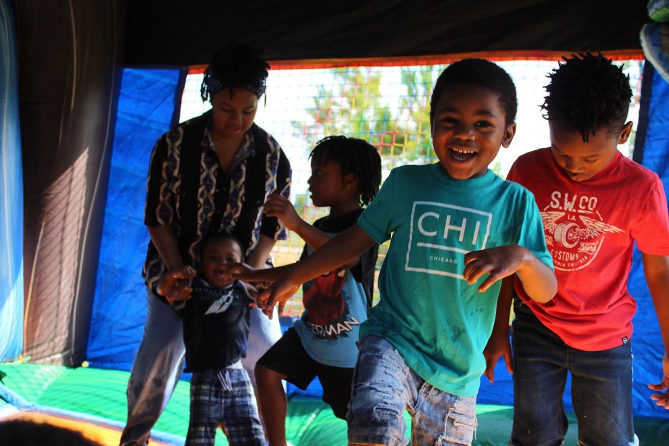 Children play at an event put on by Family Promise.