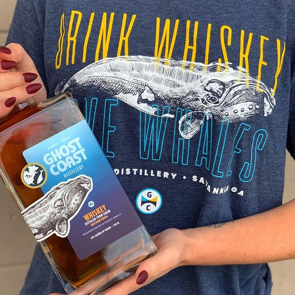 Limited edition Whale Whiskey and tees available until December 6 at Ghost Coast Distillery