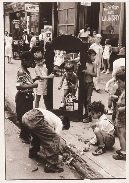 """New York"" by Helen Levitt, c. 1940, is one of several artworks on virtual display via Telfair Today."