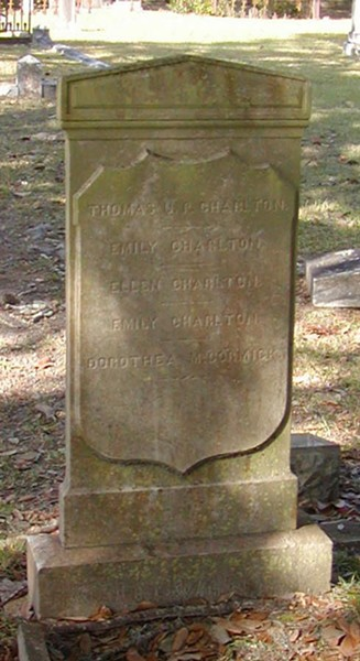 Mayor Charlton was buried in Laurel Grove Cemetery.