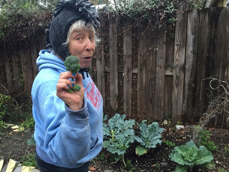 No one, but no one, grows broccoli in the lane like Jane Fishman. - PHOTO BY BETSY CAIN