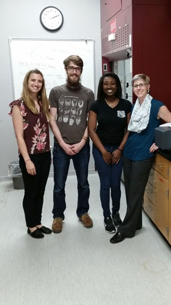 L to R: Sarah Zingales, Dylan Carter, Rakkia Smith, Sarah Gray