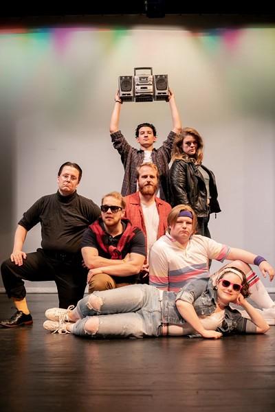 Travis Spangenburg, Juan Miguel Vidales, David Withun, Lane Twoler, Molly Alexander, and John Posner Brat Pack it up for Twelfth Night. - MEGAN JONES