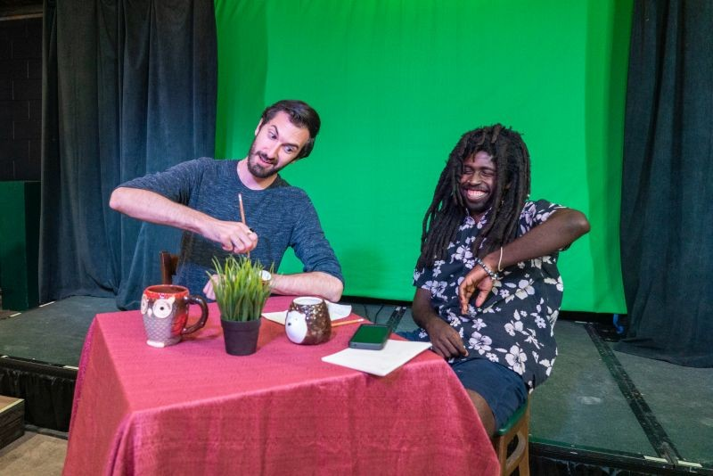 Front Porch Improv's new show, Hot Takes, features Matt Nickley and Chris Williams in a format where everything is up for discussion. - PHOTO BY CHRISTOPHER DANGER MENDRALA