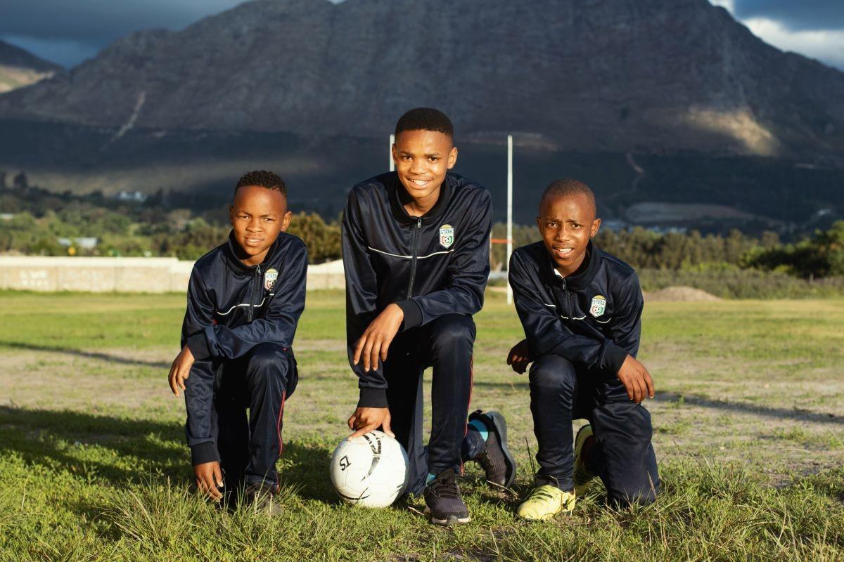 Several members of the the Kusasa football team