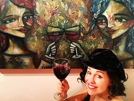 Emmy Dudley celebrates her exhibition at the Cedar House Gallery.