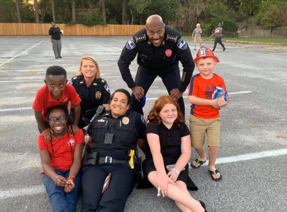 Savannah police officers visit local neighborhoods during a previous year's National Night Out. The day is an annual community-building campaign that promotes police-community partnerships and neighborhood camaraderie to make our neighborhoods safer, more caring places to live.