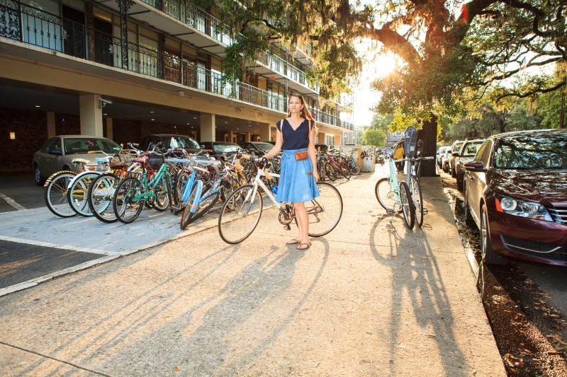Locally designed by Forest and Fin's Lara Neece, the Bicycle Wrap Skirt is built to last with functional features like pouches, pockets and snaps. Pre-orders opened last week for its first regionally-manufactured run. - KELLY ROETTO