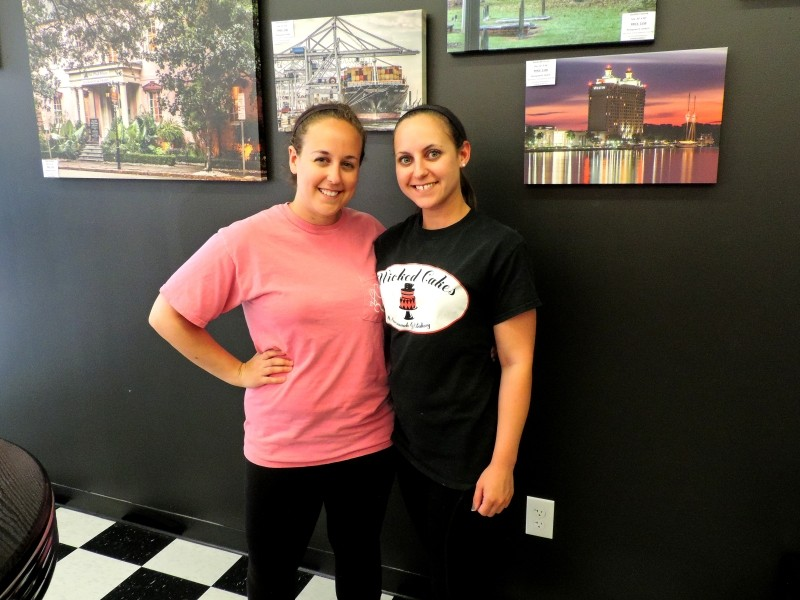 Abby Longwater, Baker/Owner, at left, with her sister Alysse.