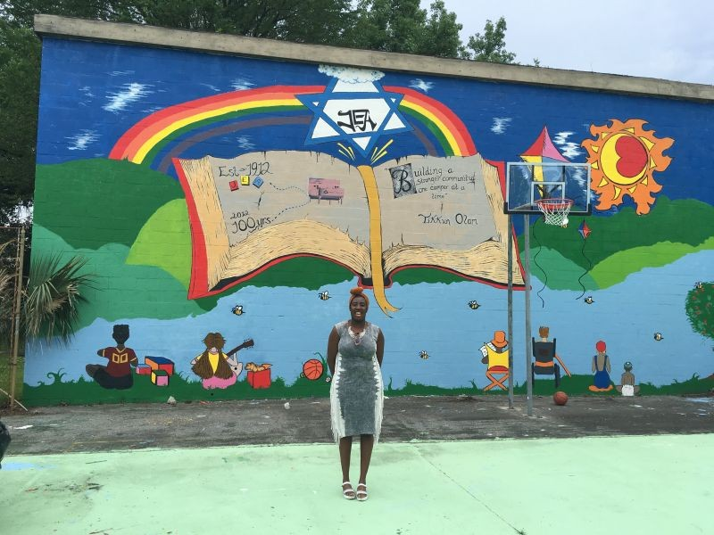 Just paint 39 s mural project combines activism with public for Community mural project