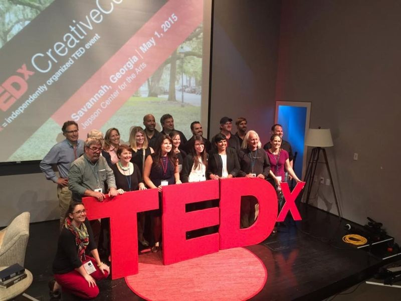 A scene from the 2015 Tedx Savannah