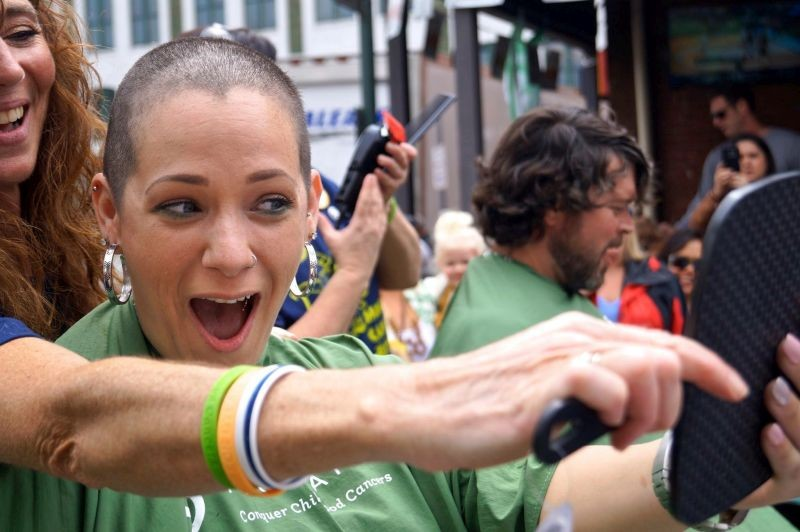 St. Baldrick's raises funds for childhood cancer research by taking it down to the scalp. - PHOTOS COURTESY OF ST. BALDRICK'S SAVANNAH