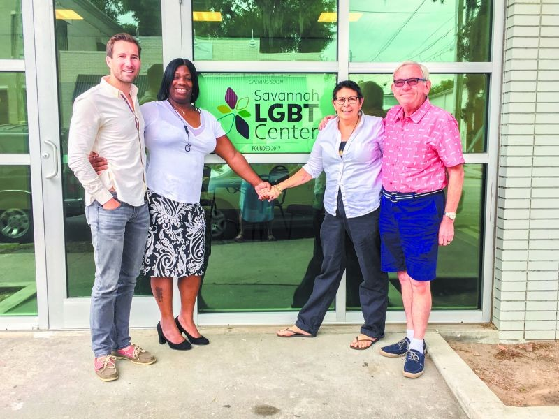 Left to right: Dusty Church of Savannah Pride, Evonia Pollard of Transgender Empowerment Education, therapist and advocate Karen Abato and First City Network chair Michael Ploski.