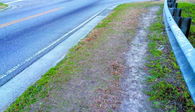 Demand for more sidewalks was clearly expressed at last month's Savannah Forward meetings. Citizens also vote for sidewalks with their feet every single day, showing us where they are needed like on this stretch of 52nd Street.