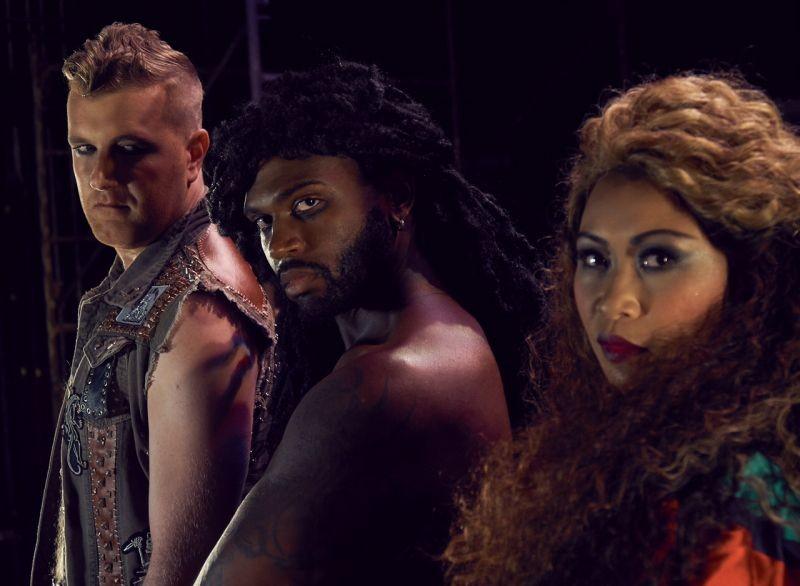 Dan Finn (Judas), Knowles, and Arango - PHOTO BY ZACHARY BURKE