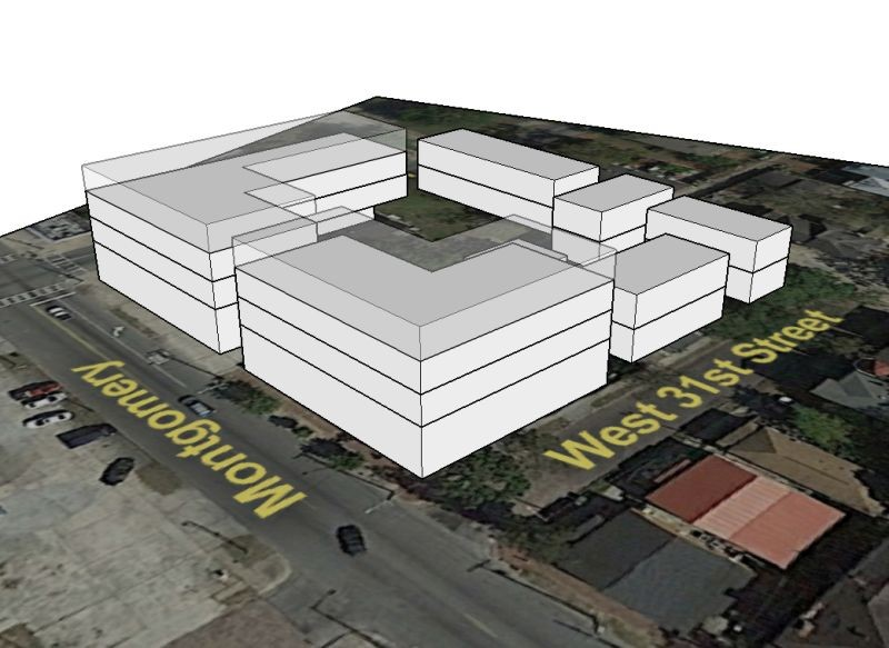Figure Three: The author's rendering of the Site One conceptual buildout.