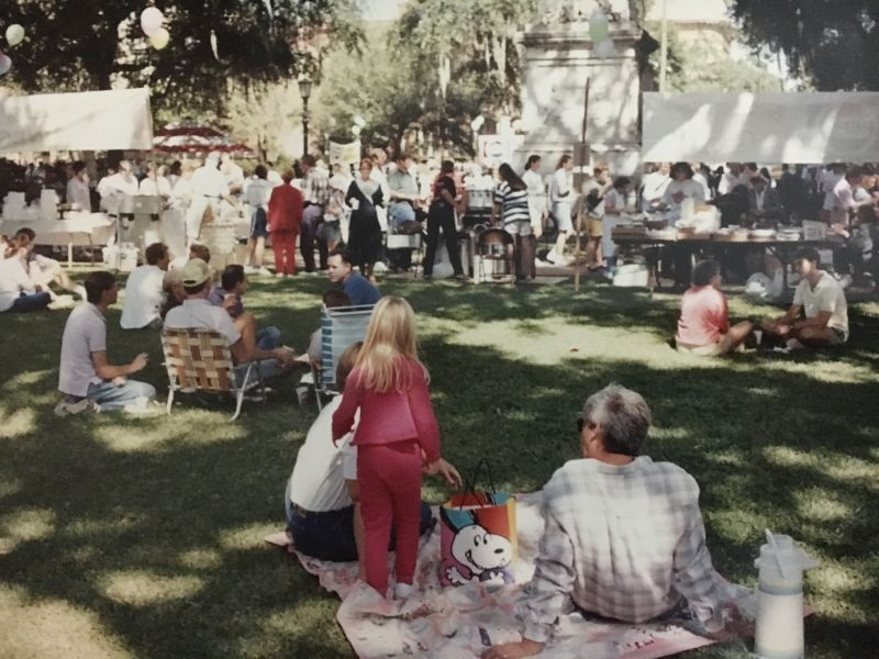 Back to Square One: The festival is moving back to its original location on Monterey Square. - COURTESY OF MICKVE ISRAEL