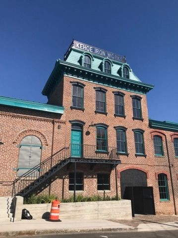 The restored Kehoe Iron Works building. - PHOTO BY KEVIN F. ROSE