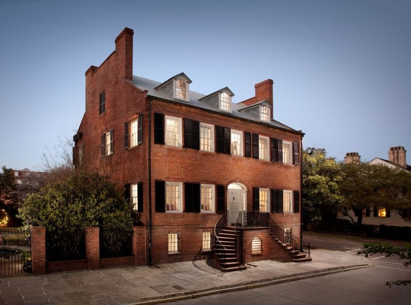 The historic Davenport House Museum on Columbia Square.