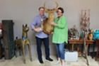 Russell Kueker and Leslie Lovell of Roots Up Gallery.
