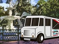 Find the food trucks:  The week's schedule
