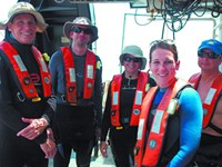 Counting sea stars and other science:  A landlubber's expedition to Gray's Reef